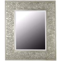 "Broussard Antique Silver 41"" High Wall Mirror"