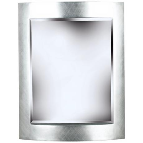 "Metro Silver 35"" High Wall Mirror"