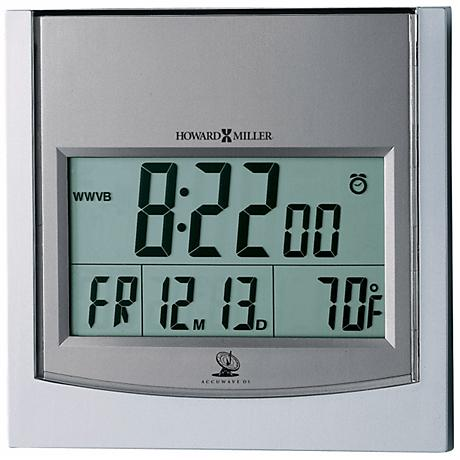 "Howard Miller Techtime 6"" Square Wall Clock"