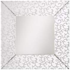 "Kichler Scroll Etched and Beveled 35 1/2"" Square Wall Mirror"