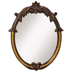 "Kichler Countess Bronze Finish 34"" High Wall Mirror"