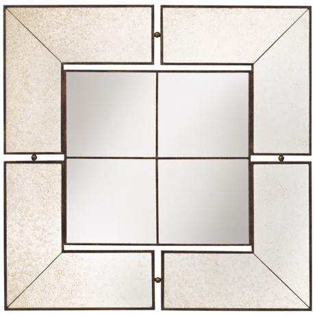 "Kichler Glenn Collection Antique 30"" Square Wall Mirror"