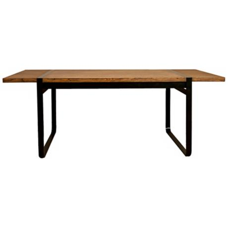 "Santa Fe Java Stain Finish 86 1/2"" Wide Dining Table"