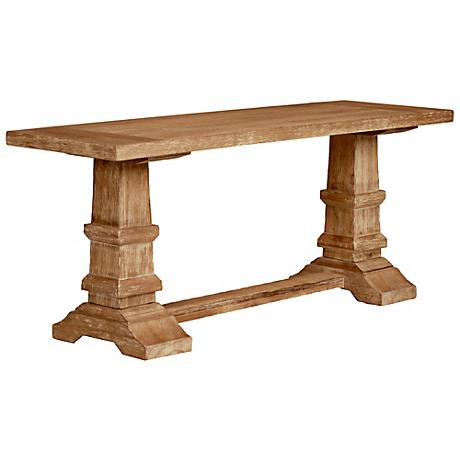 Hudson Stone Wash Finish Dining Bench