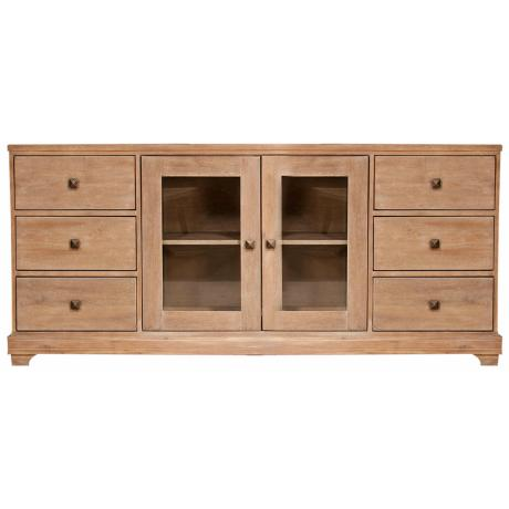 "Hudson Stone Wash Finish 71"" Wide Media Cabinet"