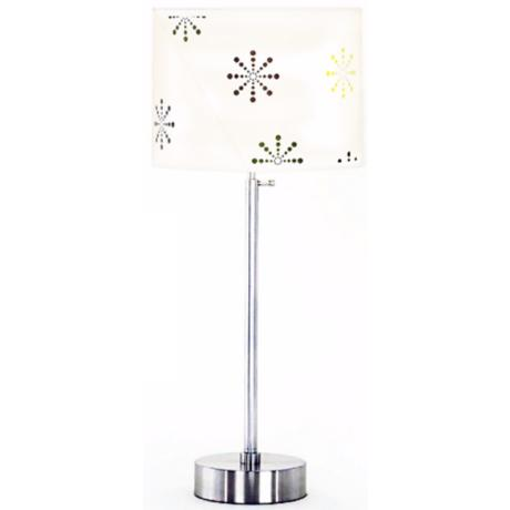 Lights Up! Cancan Snowflake Adjustable Height Table Lamp