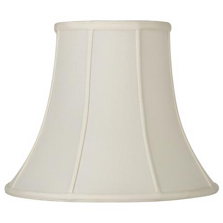 Oyster Silk Bell Lamp Shade 7.5x14x11.5 (Spider)