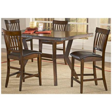 Hillsdale Arbor Hill Counter Height 5 Piece Dining Set