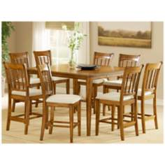 Hillsdale Bayberry Counter Height 9 Piece Dining Set