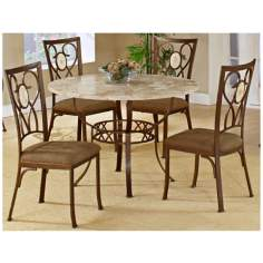 Hillsdale Brookside Scrolling Round 5 Piece Dining Set