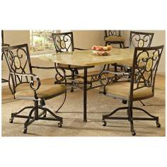 Hillsdale Brookside Rectangle Scrolling 5 Piece Dining Set