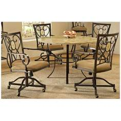 Hillsdale Brookside Round Oval Back Dining Set