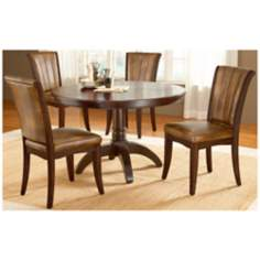 Hillsdale Grand Bay Round Cherry 5 Piece Dining Set
