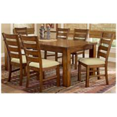 Hillsdale Hemstead Oak finish 7 Piece Dining Set