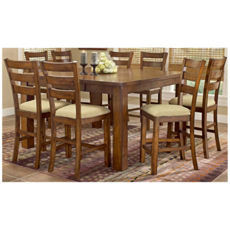 Hillsdale Hemstead Counter Height 9 Piece Dining Set