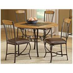 Hillsdale Lakeview Round Wood Chair 5 Piece Dining Set