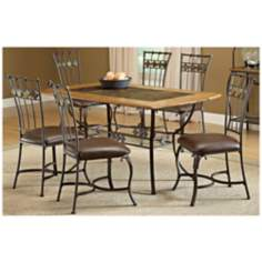 Hillsdale Lakeview Rectangle Slate 7 Piece Dining Set
