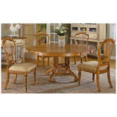 Hillsdale Wilshire Round Pine Finish 5 Piece Dining Set