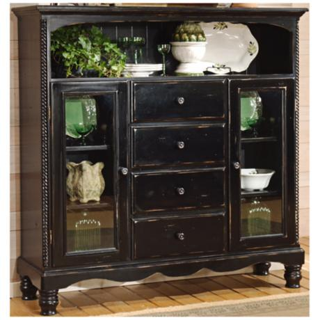 Hillsdale Wilshire Black Finish 4 Drawer Baker Cabinet