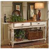Hillsdale Wilshire White Finish Legs Sideboard Table