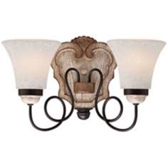 Jessica McClintock Accents Provence 2 Light Bath Wall Light