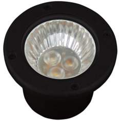 Black Finish LED Well Landscape Light