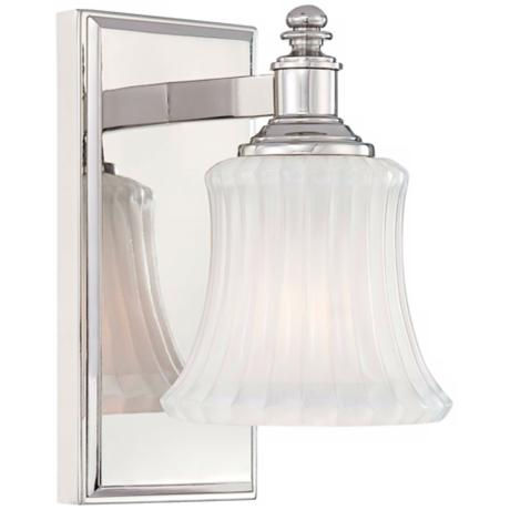 Minka Lavery Hayvenhurst Polished Nickel Finish Wall Sconce