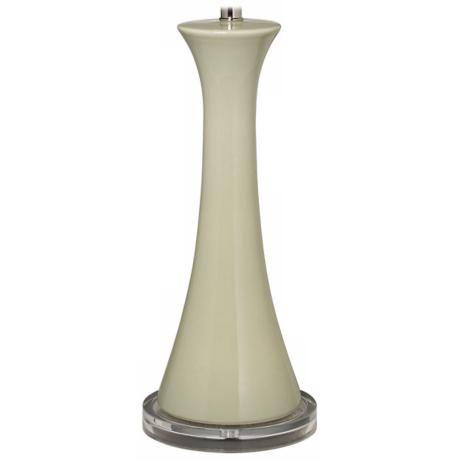 Tapered Heather Green Column Ceramic Table Lamp Base