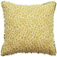 "Green Angelina 18"" Square Outdoor Pillow"