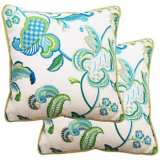 "Set of 2 Maxine 25"" Square Welt Cording Outdoor Pillows"