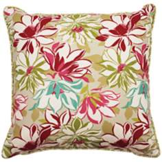 "Sarah 18"" Square Welt Cording Outdoor Pillow"