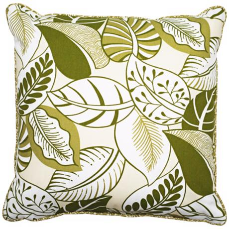 "Nicole 18"" Square Welt Cording Outdoor Pillow"