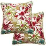"Set of 2 Sarah 25"" Square Welt Cording Outdoor Pillows"