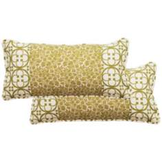 Set of 2 Nicole Rectangular Patched Outdoor Pillows
