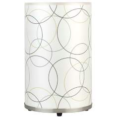 Lights Up! Meridian Medium Circles Table Lamp