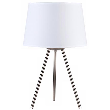 "Lights Up! Weegee Small White Linen 20"" High Table Lamp"
