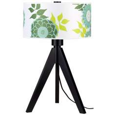 "Lights Up! Woody 28"" High Anna Green Shade Table Lamp"