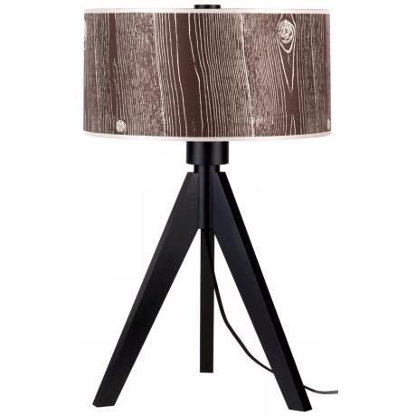 "Lights Up! Woody 28"" High Faux Bois Dark Shade Table Lamp"