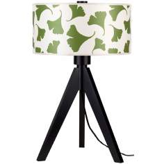 "Lights Up! Woody 28"" High Green Ginko Leaf Shade Table Lamp"