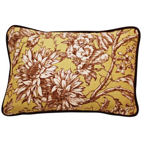 "Vintage Garden 17"" Wide Linen Throw Pillow"
