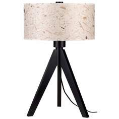 "Lights Up! Woody 28"" High Mango Leaf Shade Table Lamp"