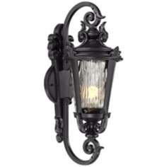 "Casa Marseille 21 1/2"" High Black Outdoor Wall Light"