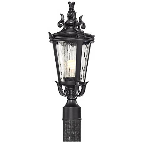 "Casa Marseille 20 1/2"" High Black Outdoor Post Light"