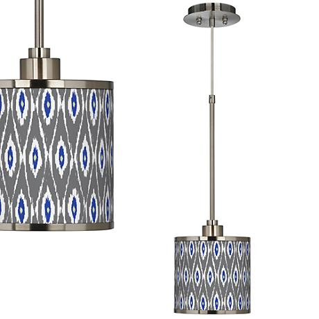 American Ikat Giclee Glow Mini Pendant Light
