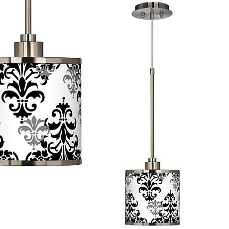 Damask Shadow Giclee Glow Mini Pendant Light