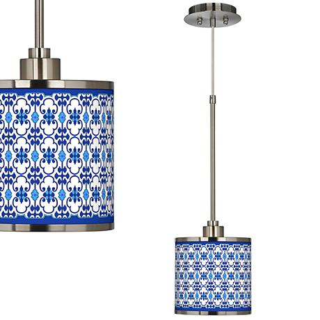 Indigo Path Giclee Glow Mini Pendant Light