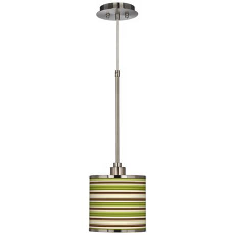Mini Stripe Giclee Glow Mini Pendant Light