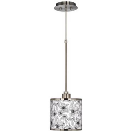 Stacy Garcia Linear Floral Giclee Glow Mini Pendant Light