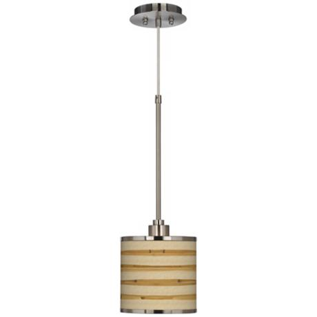 Bamboo Wrap Giclee Glow Mini Pendant Light
