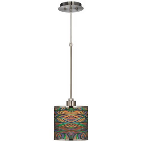 Exotic Peacock Giclee Glow Mini Pendant Light